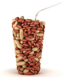 Glass shape made of peanuts Stock Photography