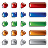 Glass Shapes, button Stock Image