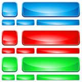 Glass Shapes, button Royalty Free Stock Image