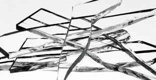Glass shards Royalty Free Stock Image