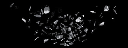 Glass shards Stock Photography
