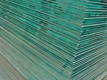 Glass sheets Stock Image