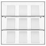 The glass shelf with books Stock Photo