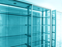 Glass shelf, empty Stock Photo