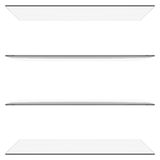 Glass shelves Royalty Free Stock Images