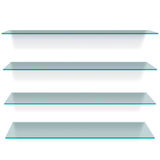 Glass shelves Royalty Free Stock Photography