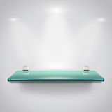 Glass shelves with spot light Stock Image