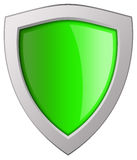 Glass shield icon Royalty Free Stock Image