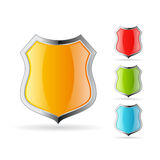 Glass shield icon Stock Image
