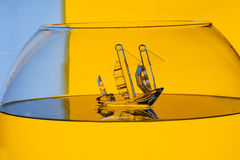 Glass ship Stock Photo