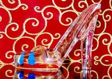 Glass shoe. Stock Photos