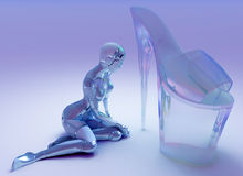 Glass Shoes Royalty Free Stock Image