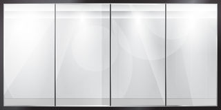 Glass showcase Royalty Free Stock Images