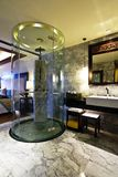 Glass shower. Bathroom in luxury hotel with glass shower Royalty Free Stock Image