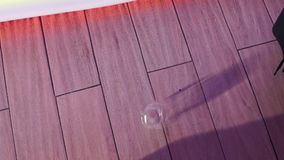 Glass shutters on the tile floor stock footage