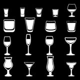 Glass  silhouette collection Royalty Free Stock Photos