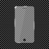Glass skärmbeskyddande för smartphone Glass räkning för mobiltelefonbildskärm vektor royaltyfri illustrationer