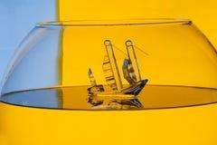 Glass skepp Arkivfoto