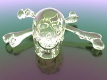 Glass Skull and Crossbones Royalty Free Stock Photos