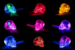 Glass skulls Stock Photography