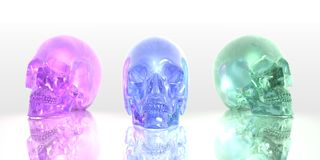 Glass skulls Royalty Free Stock Photography