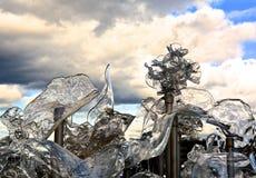 Glass skulptur Fotografering för Bildbyråer