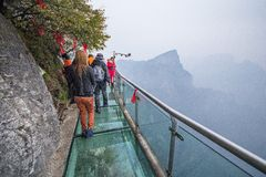 Glass sky walk Stock Images