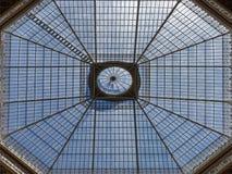 Glass Skylight of Palácio da Bolsa do Porto, Portugal.  royalty free stock images