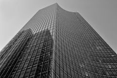 Glass skyscraper in black and white Royalty Free Stock Photography