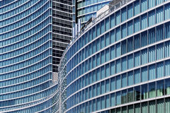 Glass skyscraper in Milan Royalty Free Stock Photography