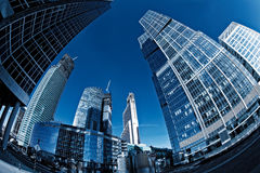 Glass skyscraper in the Moscow City Royalty Free Stock Images