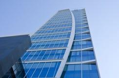 Glass Skyscraper in Santiago Chile Stock Photo