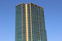Glass Skyscraper. Skyscrapers building on blue sky, Honolulu Stock Image