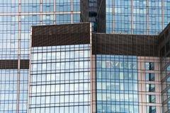 Glass skyscraper wall Royalty Free Stock Photo