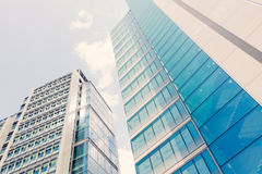 Glass Skyscrapers in the City of Londo Royalty Free Stock Images