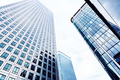 Glass Skyscrapers in the City of London. Royalty Free Stock Photos