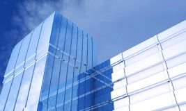 Glass skyscrapers stock photography