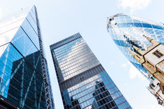 Glass Skyscrapers in  London Royalty Free Stock Photos