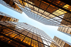 Glass skyscrapers in perspective, Hong Kong Royalty Free Stock Photography