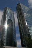 Glass skyscrappers Stock Photos