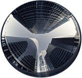 Glass skyskrapa i den Moscow staden Royaltyfria Bilder
