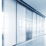 Glass sliding doors Stock Image