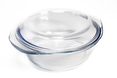 Glass small pan for cooking Stock Images