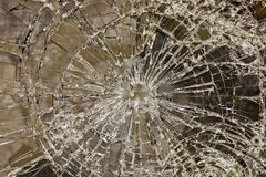 Glass smashed Royalty Free Stock Photos