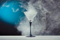 Glass with smoke Royalty Free Stock Photo