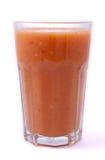 Glass of smoothie  on white. Stock Photo