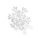 Glass snöflinga arkivfoto