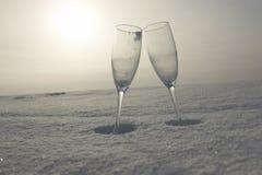 glass snow fotografering för bildbyråer