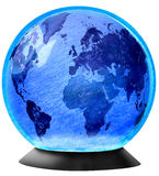 Glass Snow Globe. Snow Globe with Planet Earth in the centre Royalty Free Stock Image