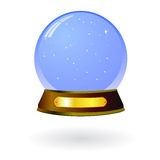 Glass snow globe isolated. Blank snow glass ball as souvenir gadget Royalty Free Stock Image